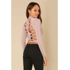 Ladder Cut Out Bandage Jacket